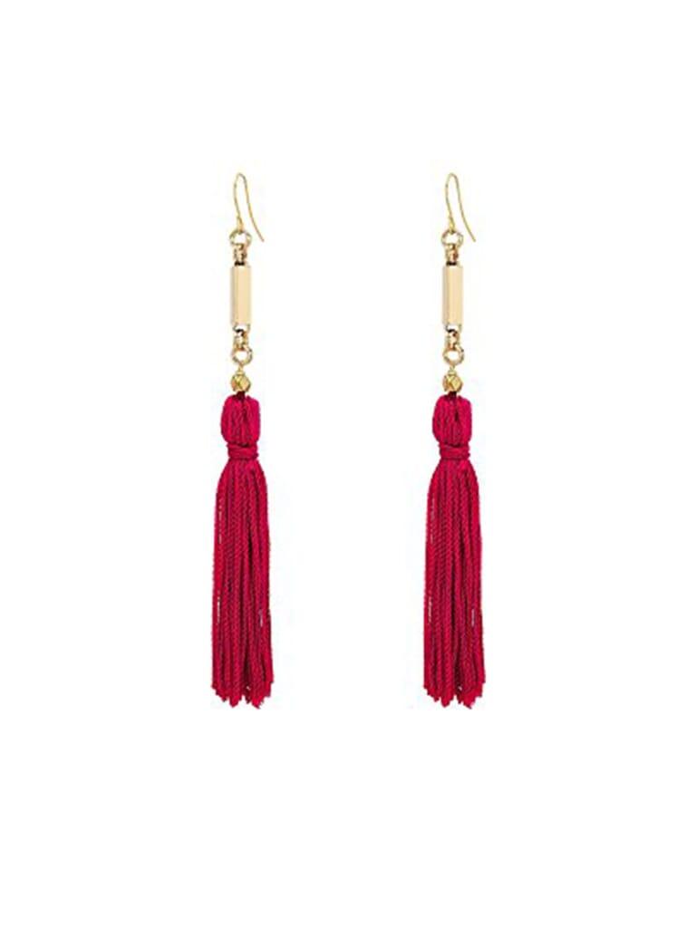 Vanessa Mooney Natalia Tassel Earrings in Pink