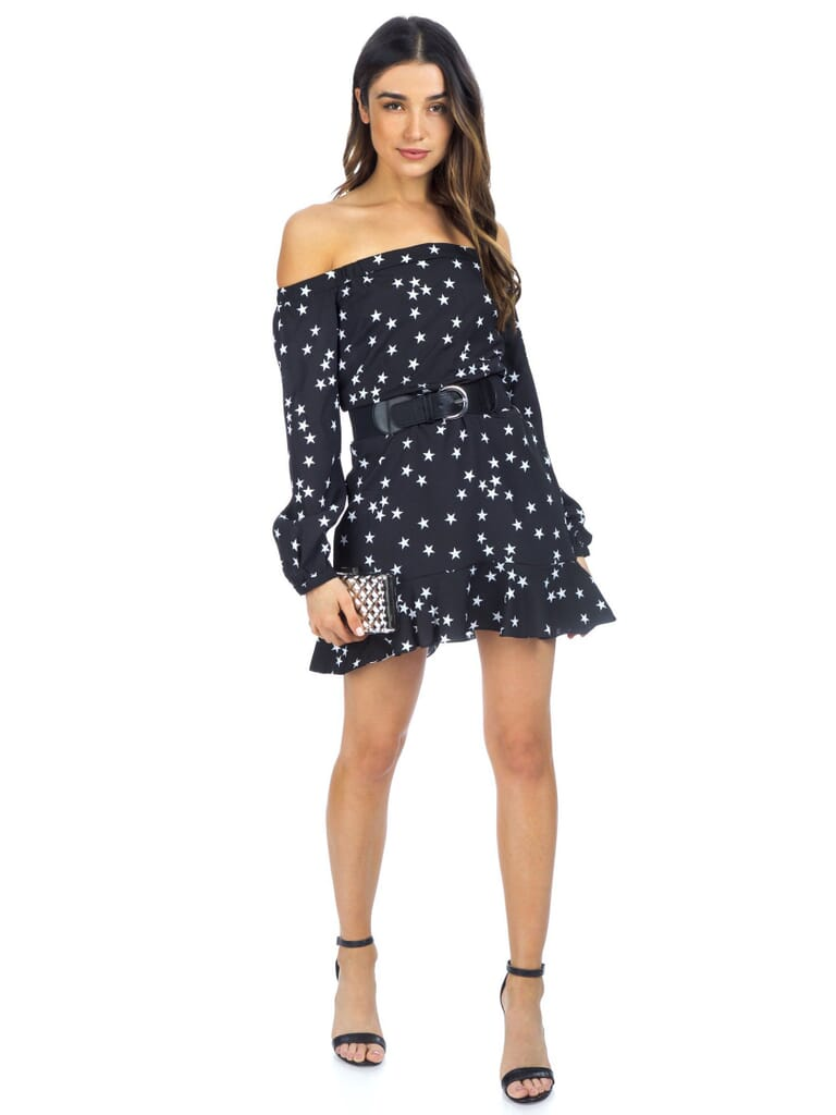 FashionPass Night Sky Dress in Black