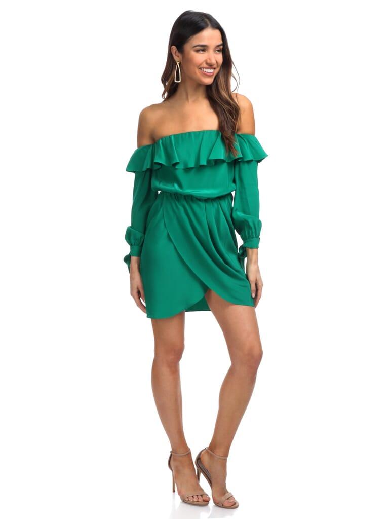 Amanda Uprichard Nina Dress in Dark Green
