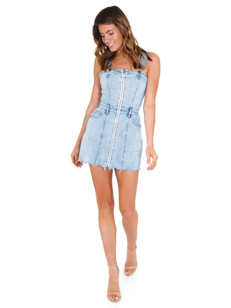 PISTOLA Nina Overall Dress in El Segundo