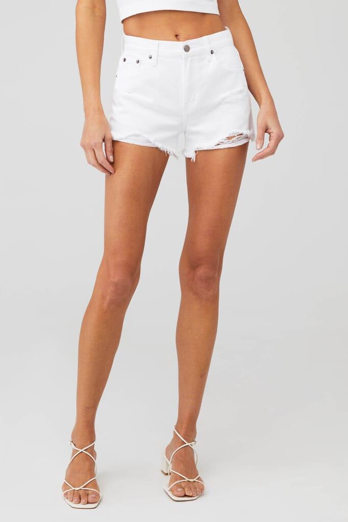 PISTOLA Nova Shorts in White Lightning