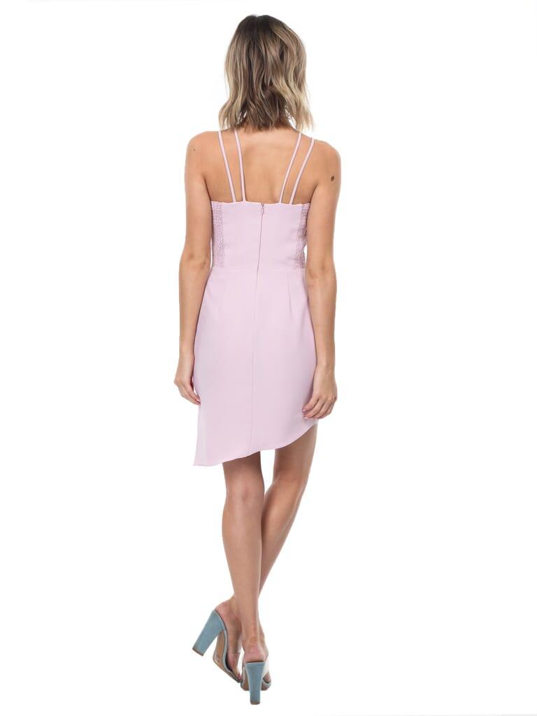 Amanda Uprichard Odean Dress in Rose Quartz