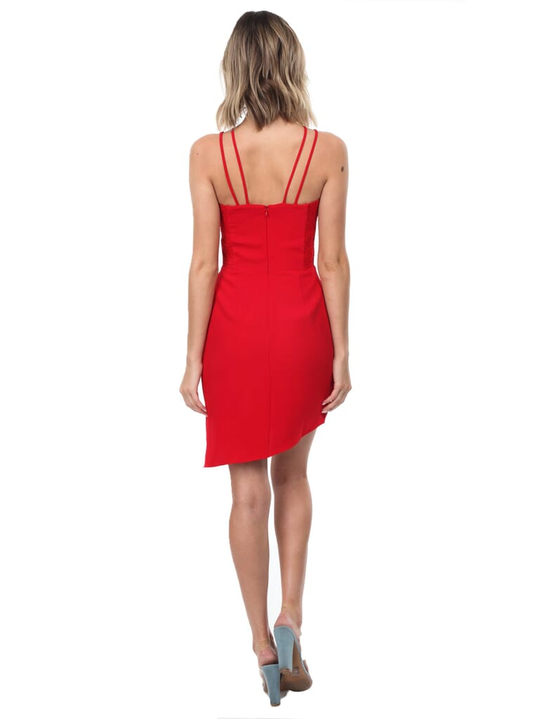 Amanda Uprichard Odean Dress in Scarlet