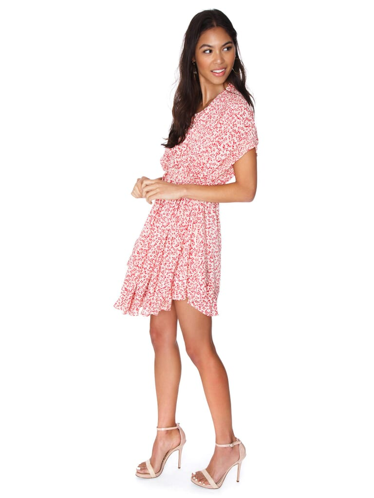 Free People One Fine Day Mini Dress in Red