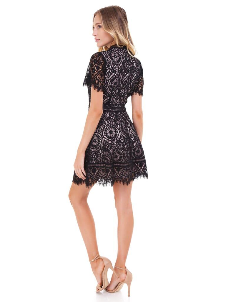 BB Dakota On  List Scalloped Dress in Black