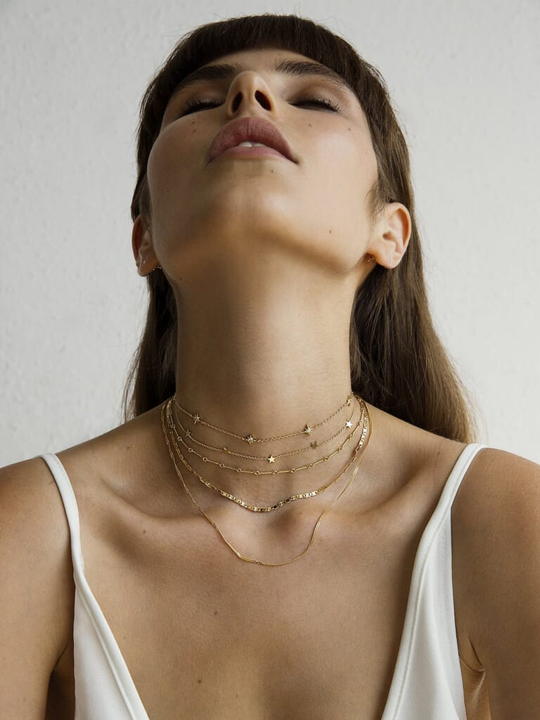 Five and Two Paige Gold Choker Necklace in Gold