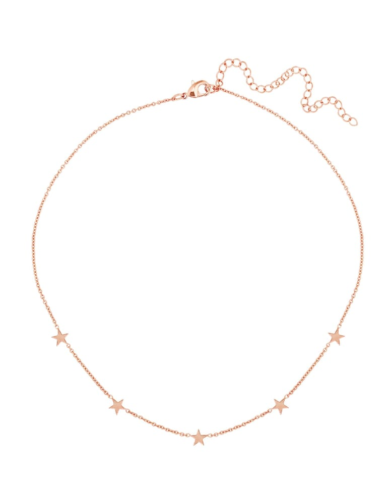 Five and Two Paige Rose Gold Choker Necklace in Rose Gold