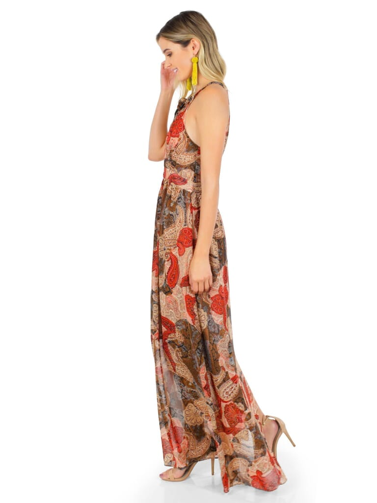 WYLDR Paint  Sky Maxi Dress in Paisley