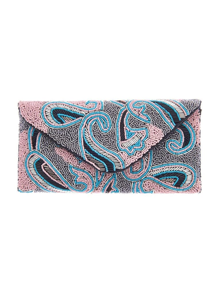 From St Xavier Paisley Clutch in Pink