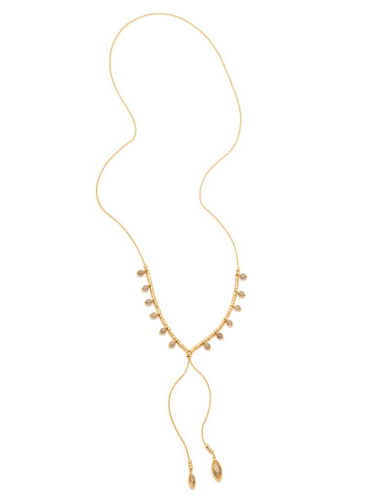 Gorjana Palisades Labradorite Versatile Necklace in Gold/Labradorite