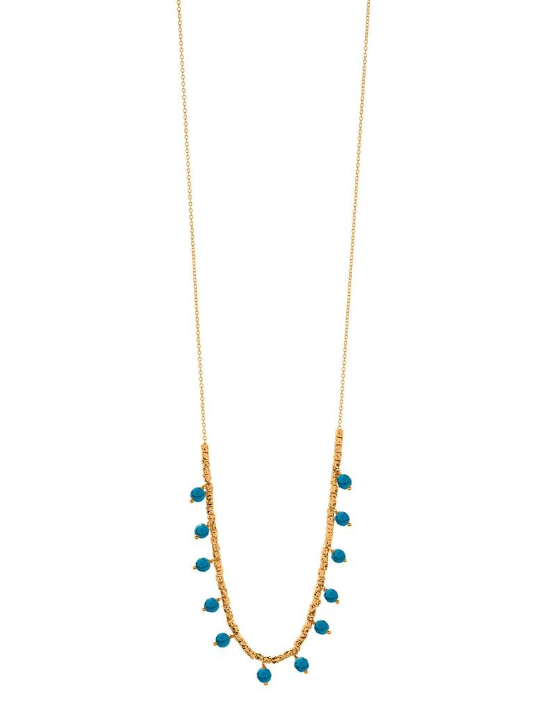 Gorjana Palisades Turquoise Versatile Necklace in Gold/Turquoise