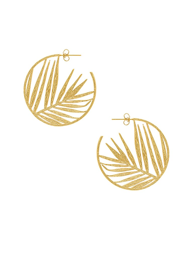 Gorjana Palm Profile Hoops in Gold