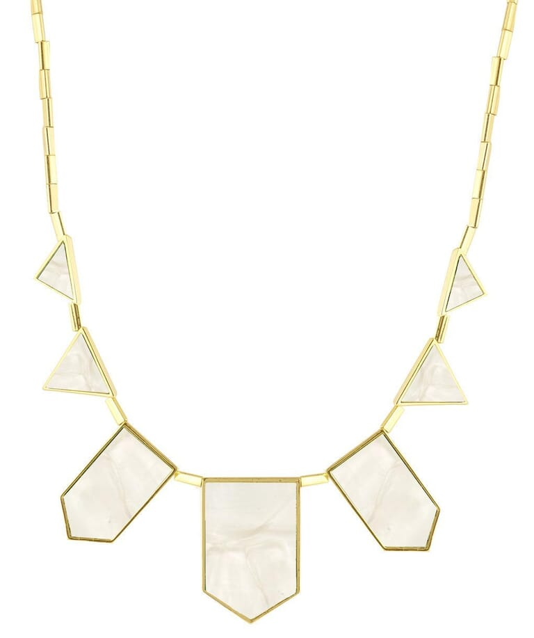 House of Harlow 1960 Pearl Classic Station Necklace in Pearl