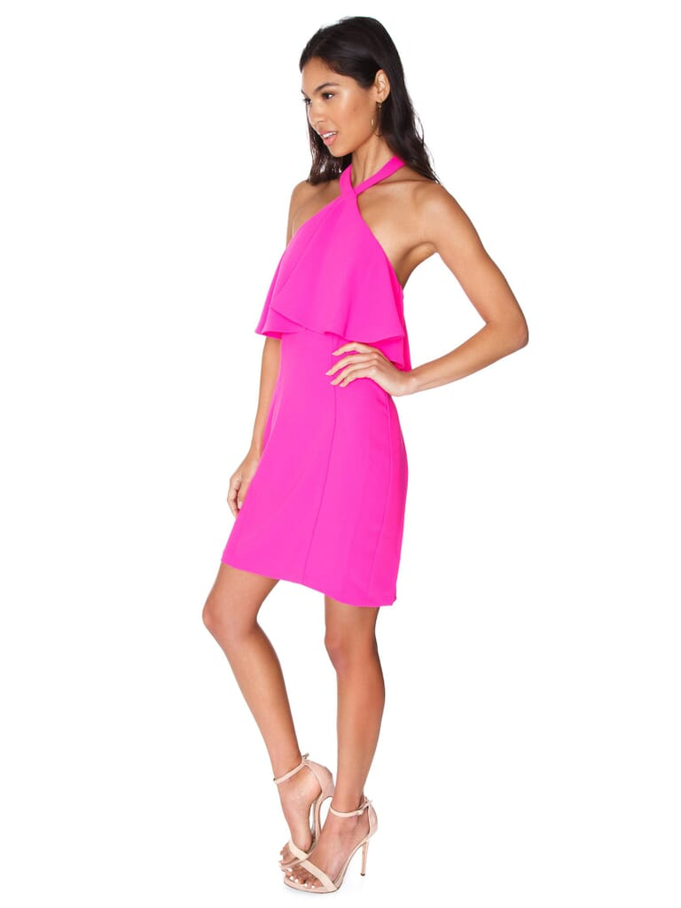 Amanda Uprichard Piazza Mini Dress in Hot Pink