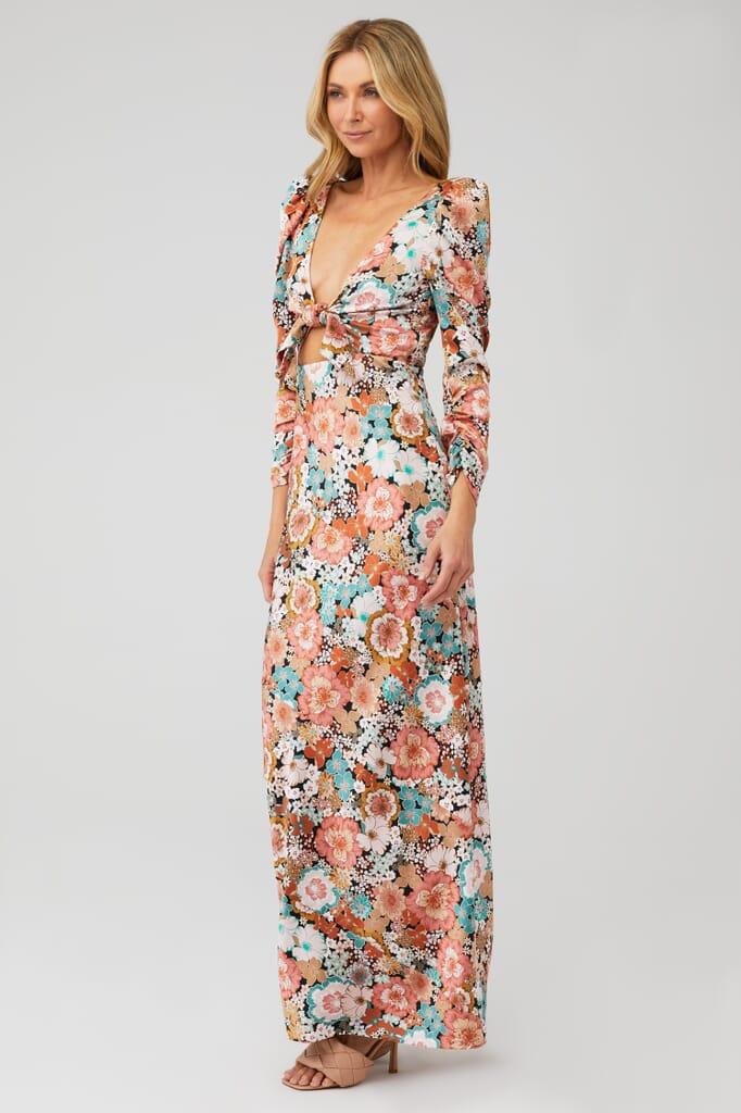 For Love & Lemons Polly Maxi Dress in Sienna