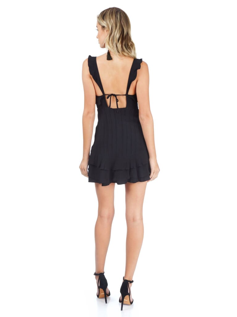 For Love & Lemons Poppy Mini Dress in Black
