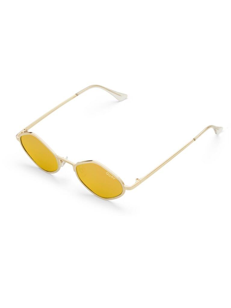 Quay Australia Purple Honey Sunglasses in Gold/Gold