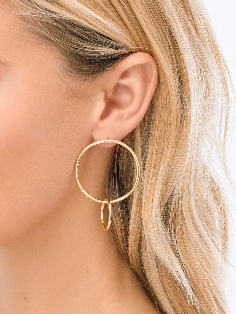 Gorjana Quinn Linked Earrings in Gold