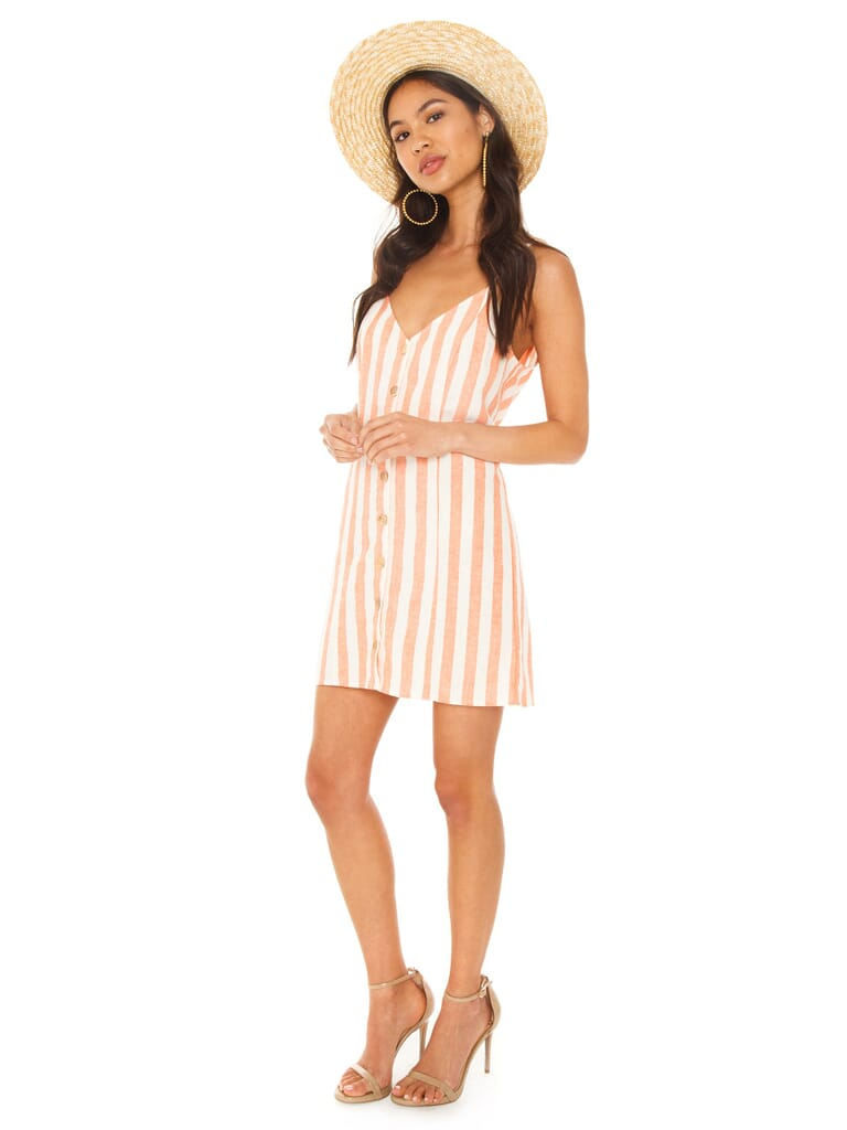 Show Me Your Mumu Remington Dress in Dreamsicle Stripe Linen