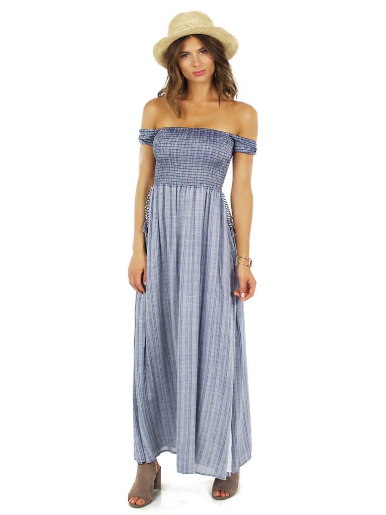 The Jetset Diaries River Midi Dress in Indigo