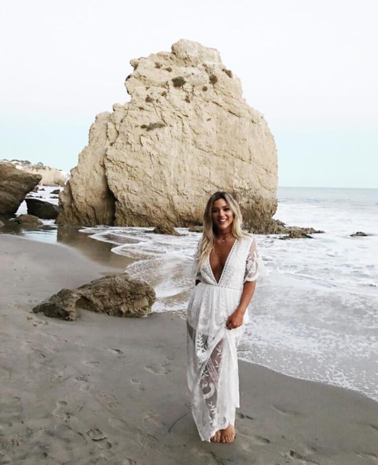 FashionPass Romper Overlay Dress in White