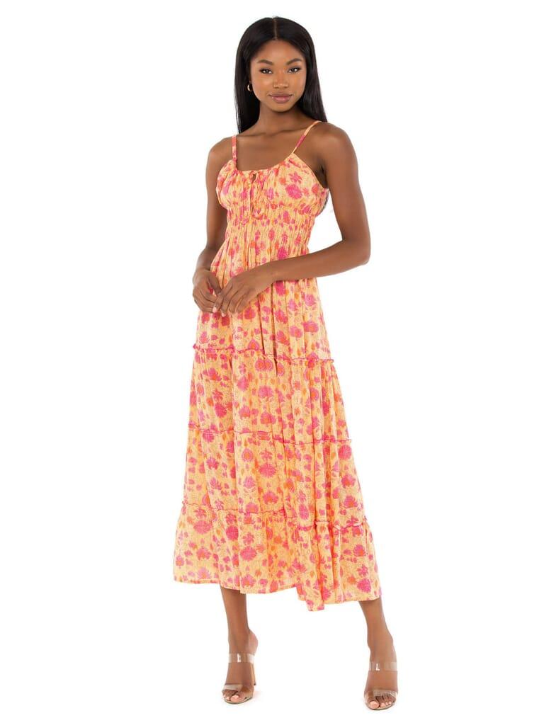 BEACHGOLD Rosie Midi Dress in Wild Ivy