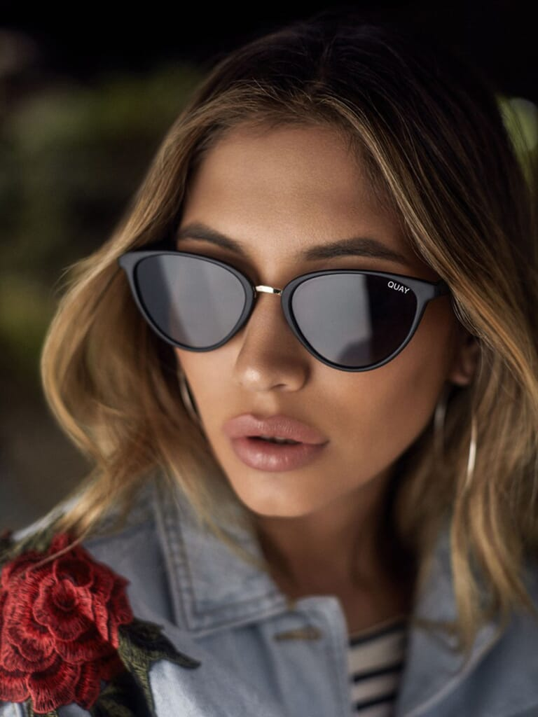 Quay Australia Rumours 57mm Sunglasses in Black