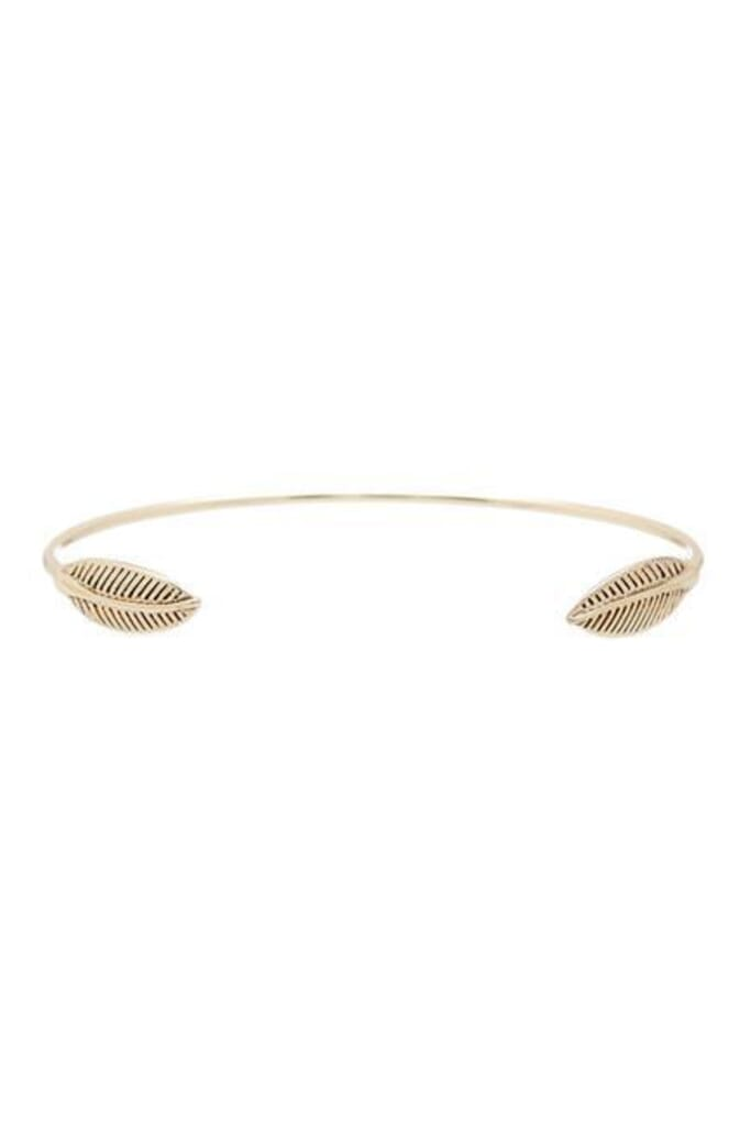 House of Harlow 1960 Sacred Leaf Cuff in Gold