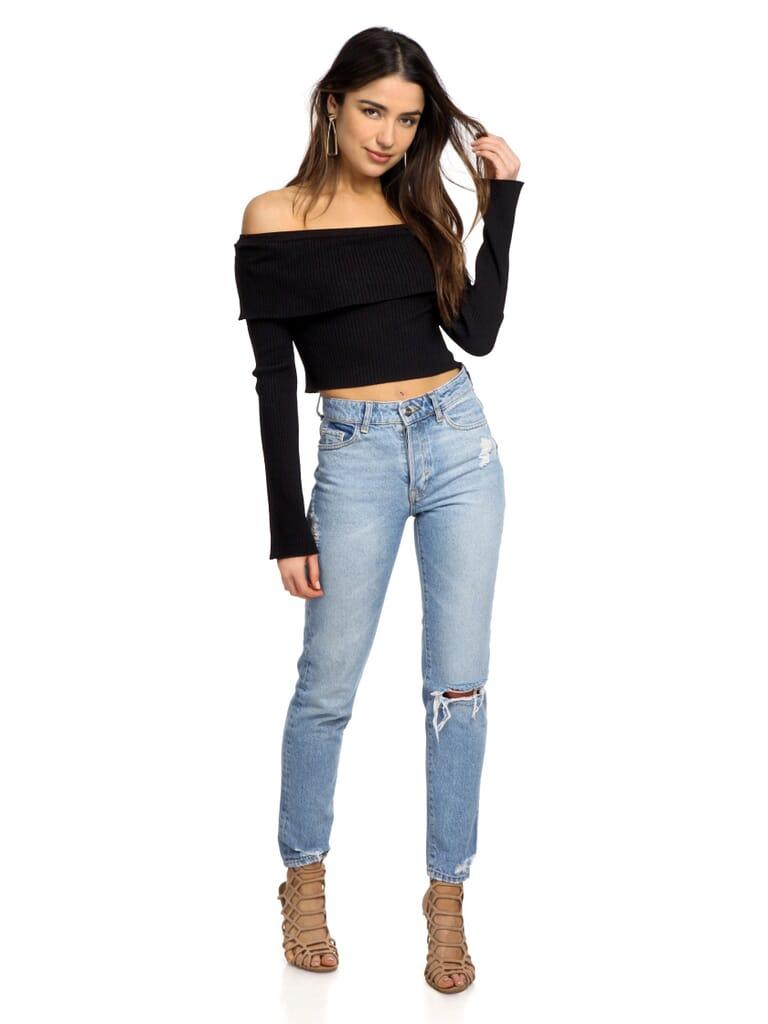 FashionPass Sadie Crop Top in Black
