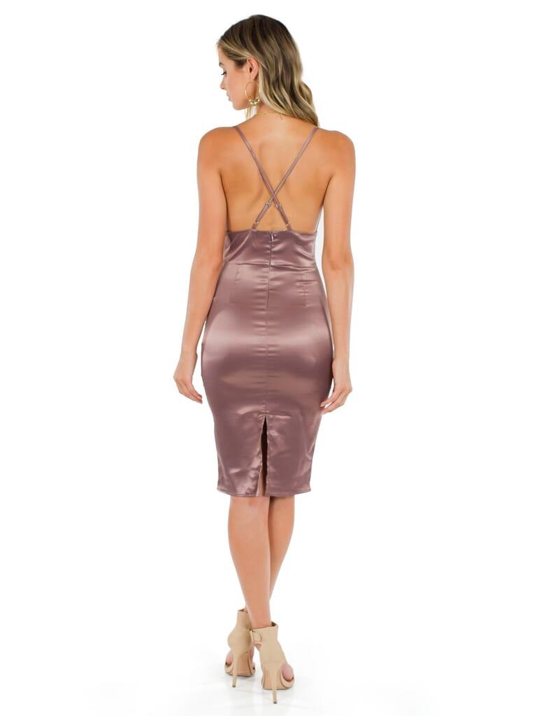 FashionPass Samantha Dress in Mauve