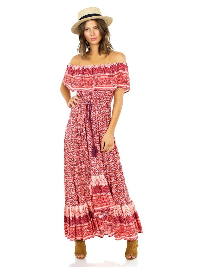 Nightcap Clothing Samba Gown in Sunrise Print