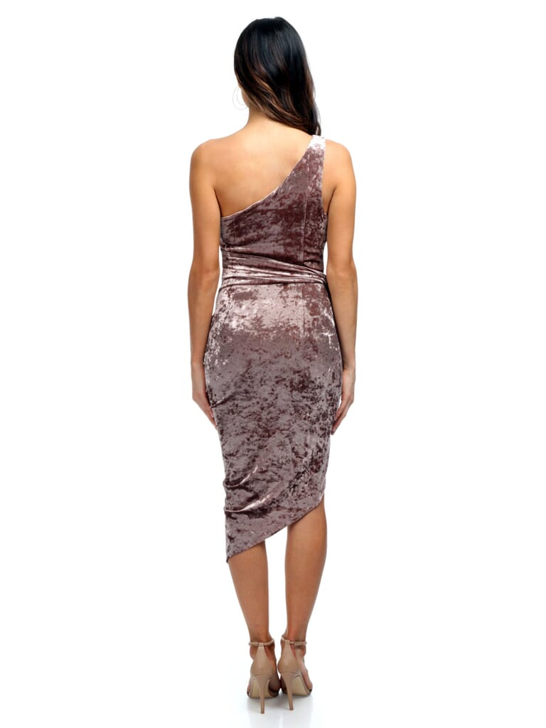 STYLESTALKER Sasha One Shoulder Dress in Rose