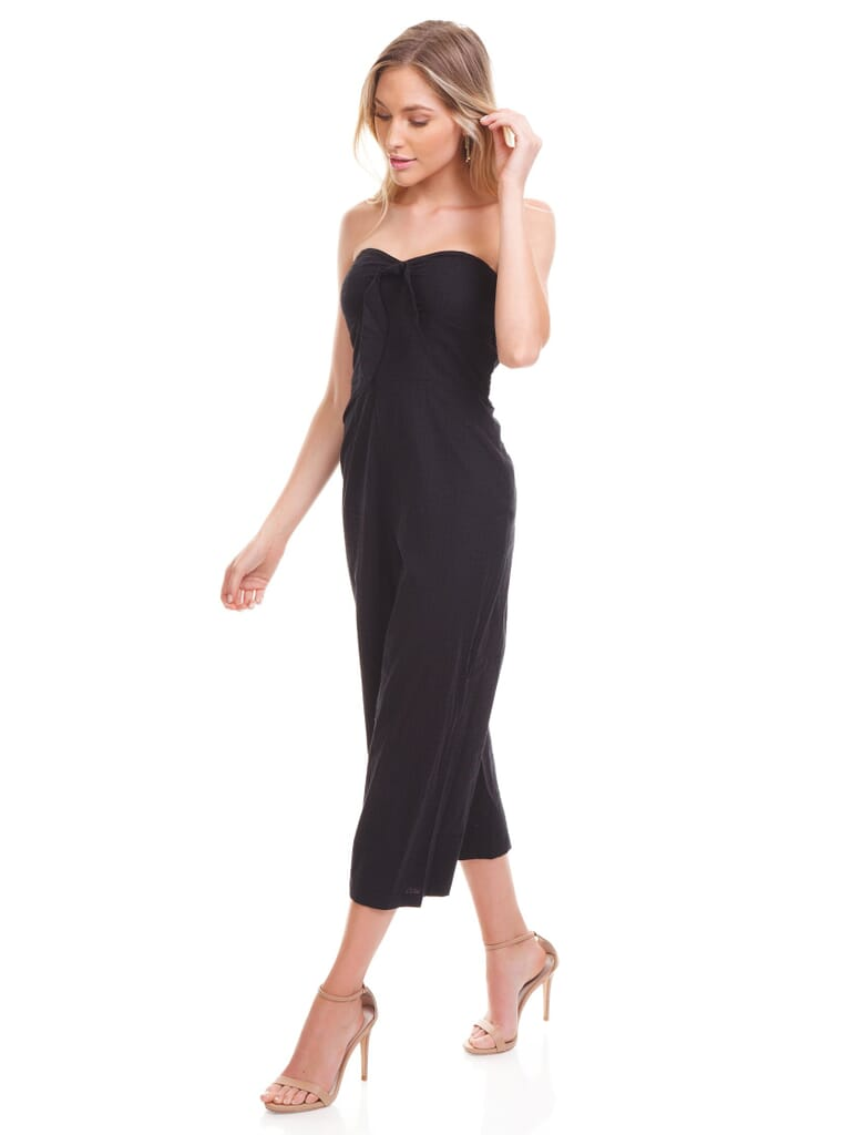 MINKPINK Say It Right Strapless Jumpsuit in Black