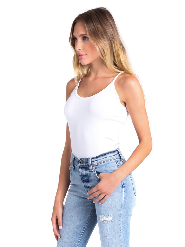 Free People Seamless Scoop Cami in White