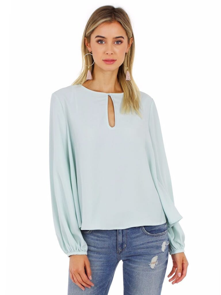 Grace Willow Selena Trapeze Top in Mist
