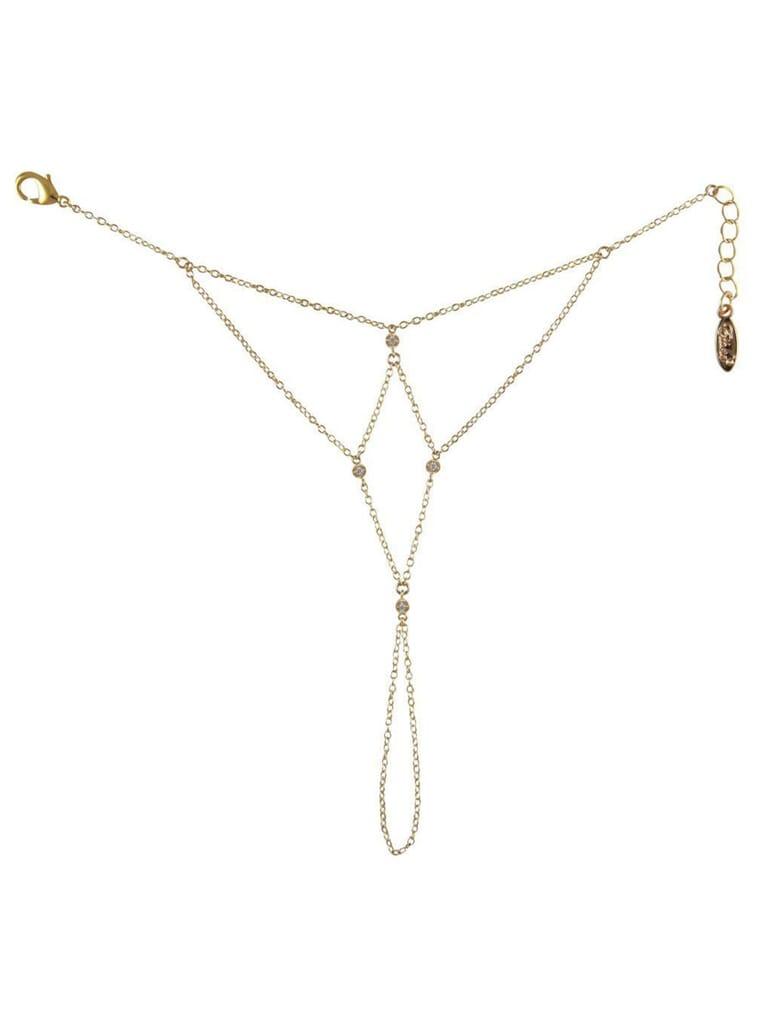 Ettika Shape Of Love Hand Chain in Gold