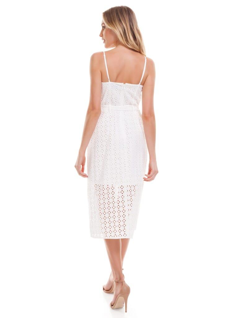 Ali & Jay Shutters Sunsets Cotton Eyelet Midi Dress in White