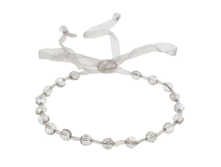 Chan Luu Silver Shade Mokuba Ribbon Choker in Silver Shade