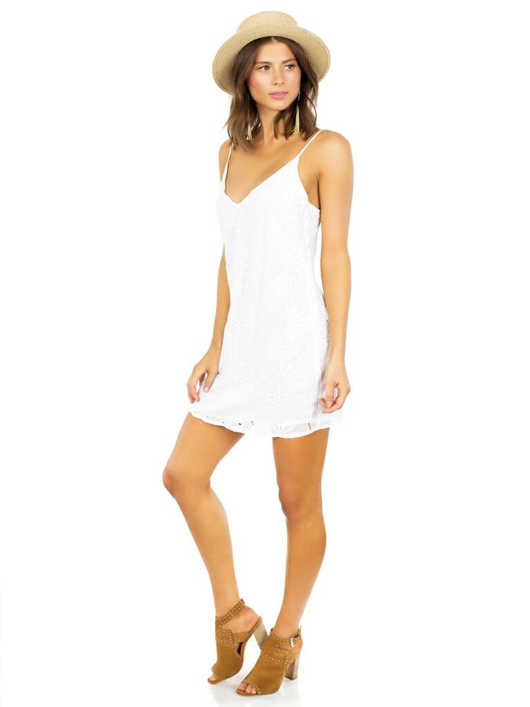 Lucca Couture Soaking Up  Sun Mini Dress in White