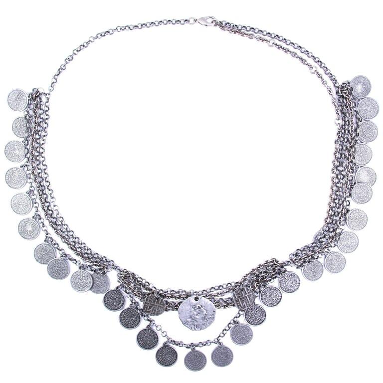 Ettika Spare Change Belt in Silver