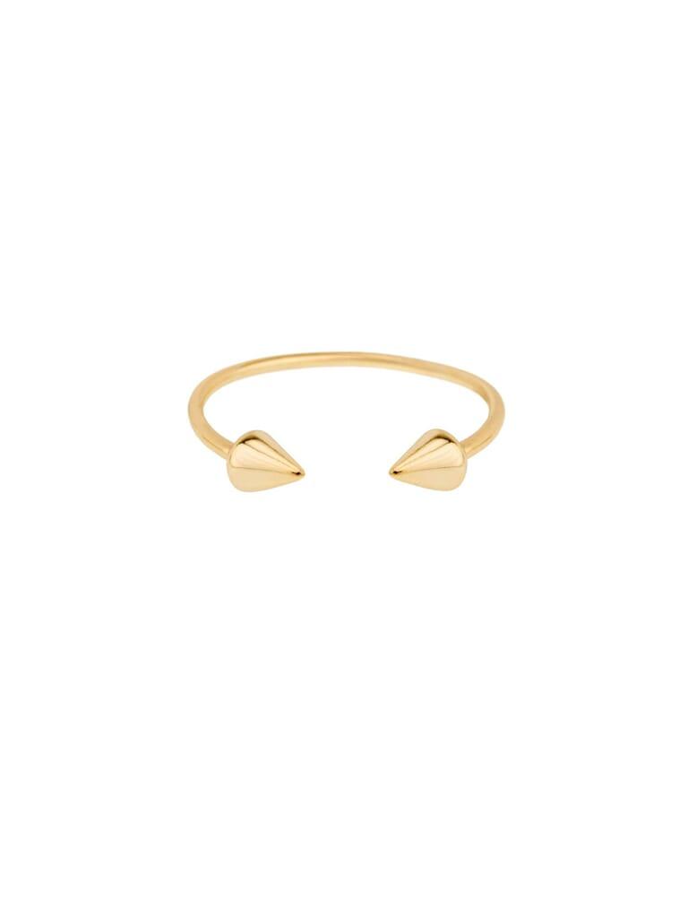Shashi Spike Ring in Gold