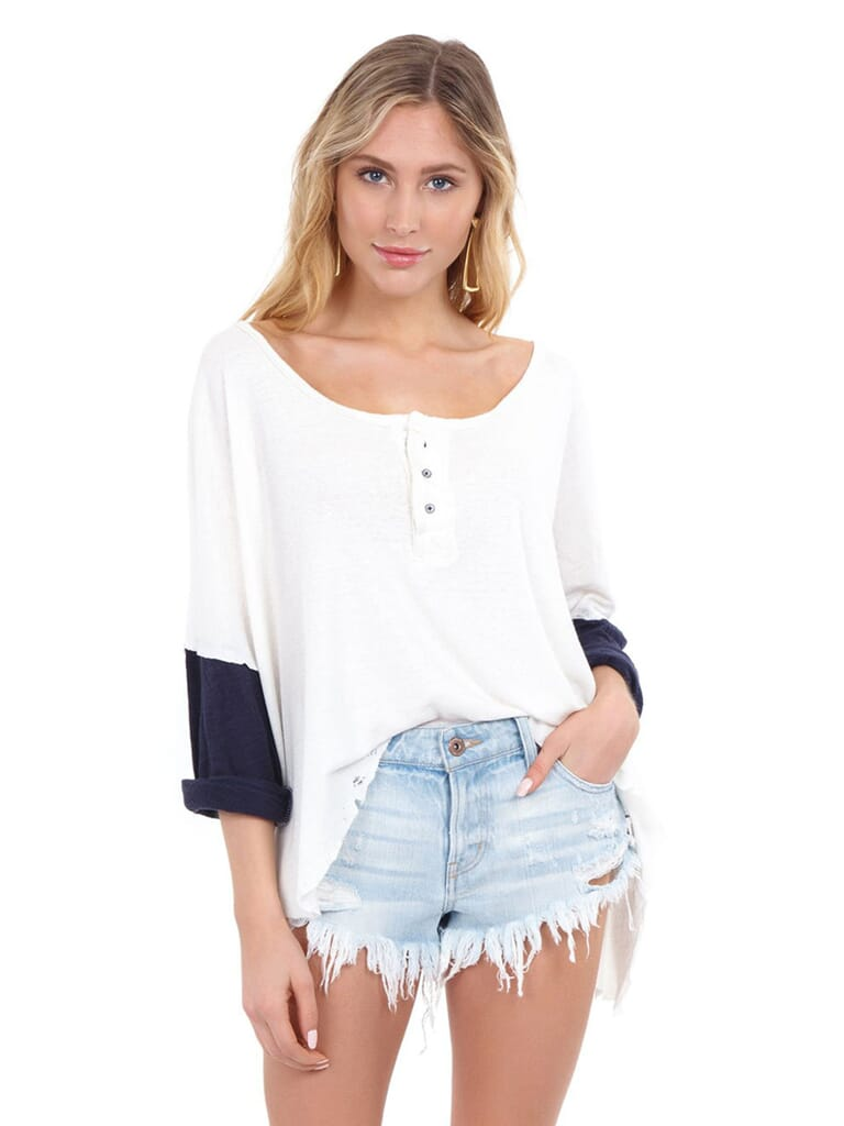 Free People Star Henley in Ivory