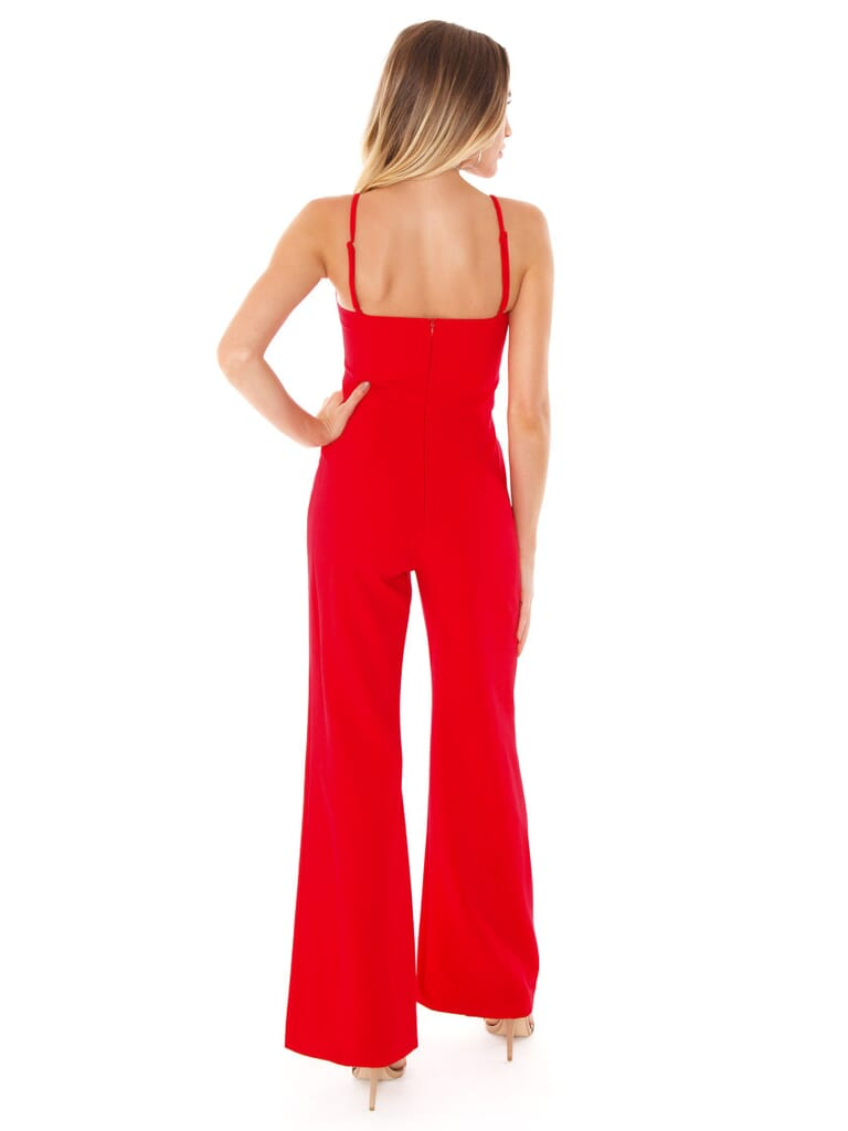 French Connection Sweeart Whisper Jumpsuit in Royal Scarlet