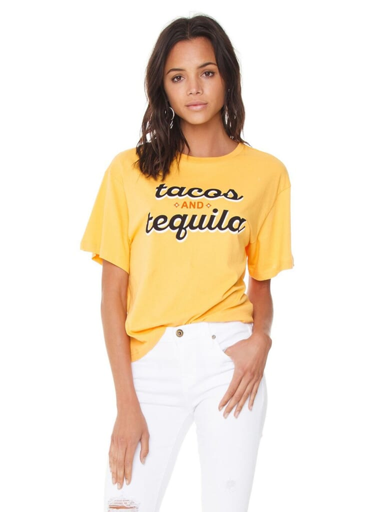 MINKPINK Tacos And Tequila Tee in Mango