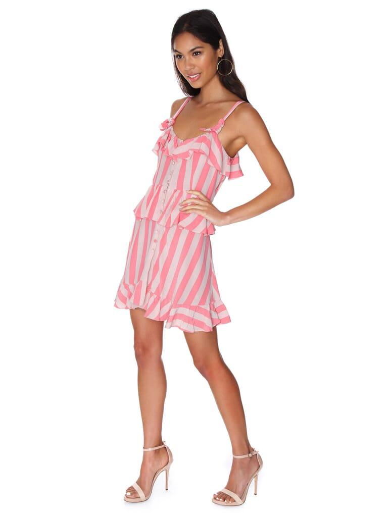 For Love & Lemons Tahiti Mini Dress in Watermelon