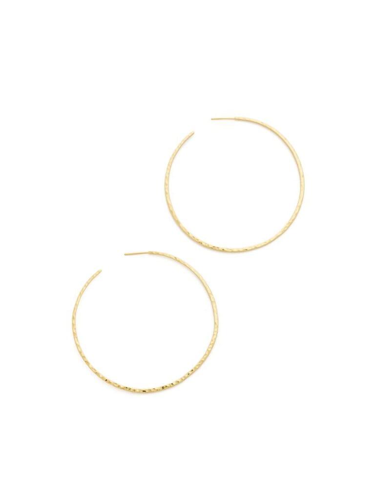 Gorjana Taner Xl Hoop Earrings in Gold
