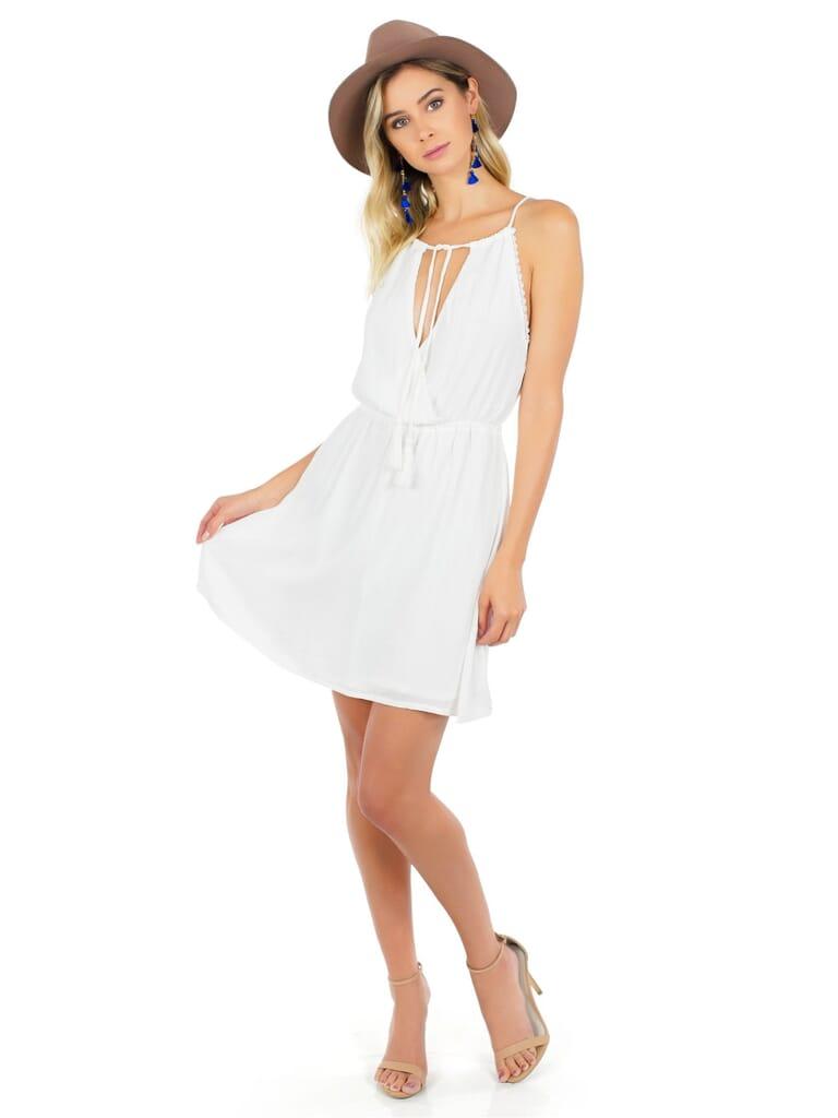 WYLDR  Babe Mini Dress in White