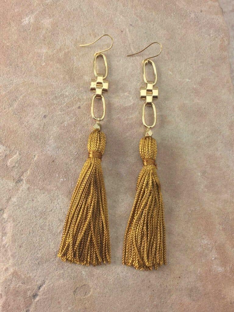 Vanessa Mooney  Faith Tassel Earrings in Gold