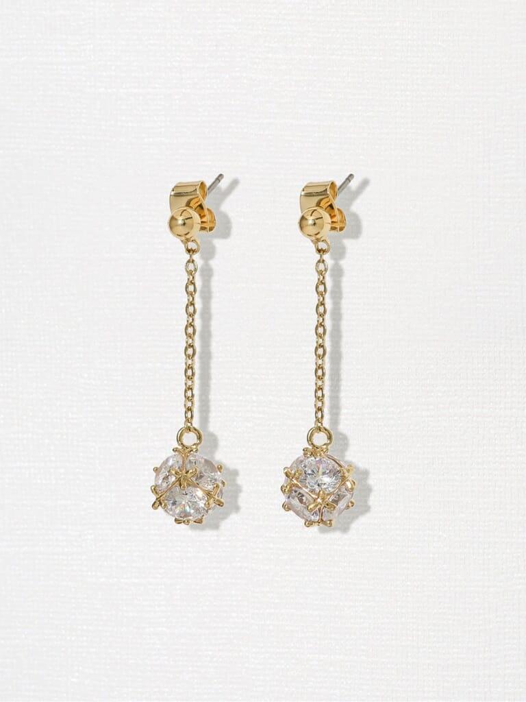 Vanessa Mooney  Miley Earrings in Gold