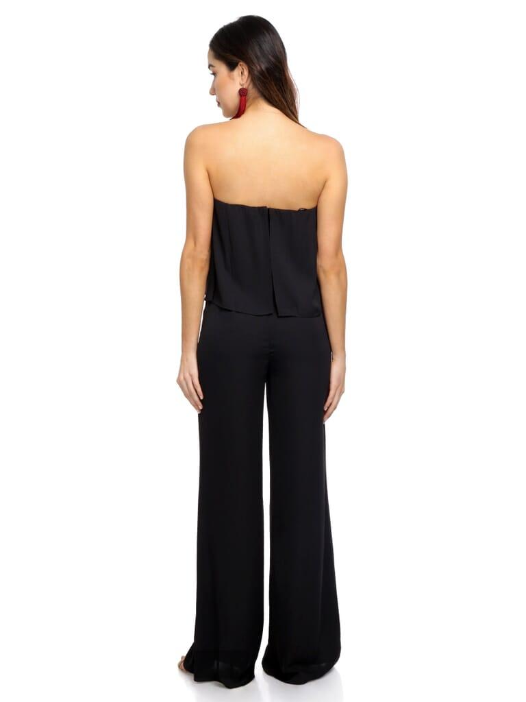 Amanda Uprichard Topanga Jumpsuit in Black